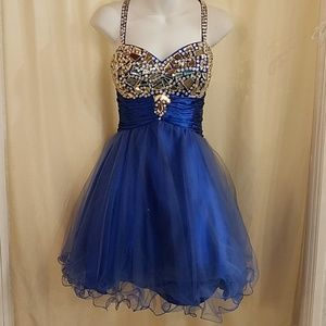 NWT Royal Short Prom Party Dress Size Large
